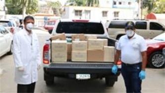Donativo al Hospital Cabral y Báez, por Coopmedica y Futusol